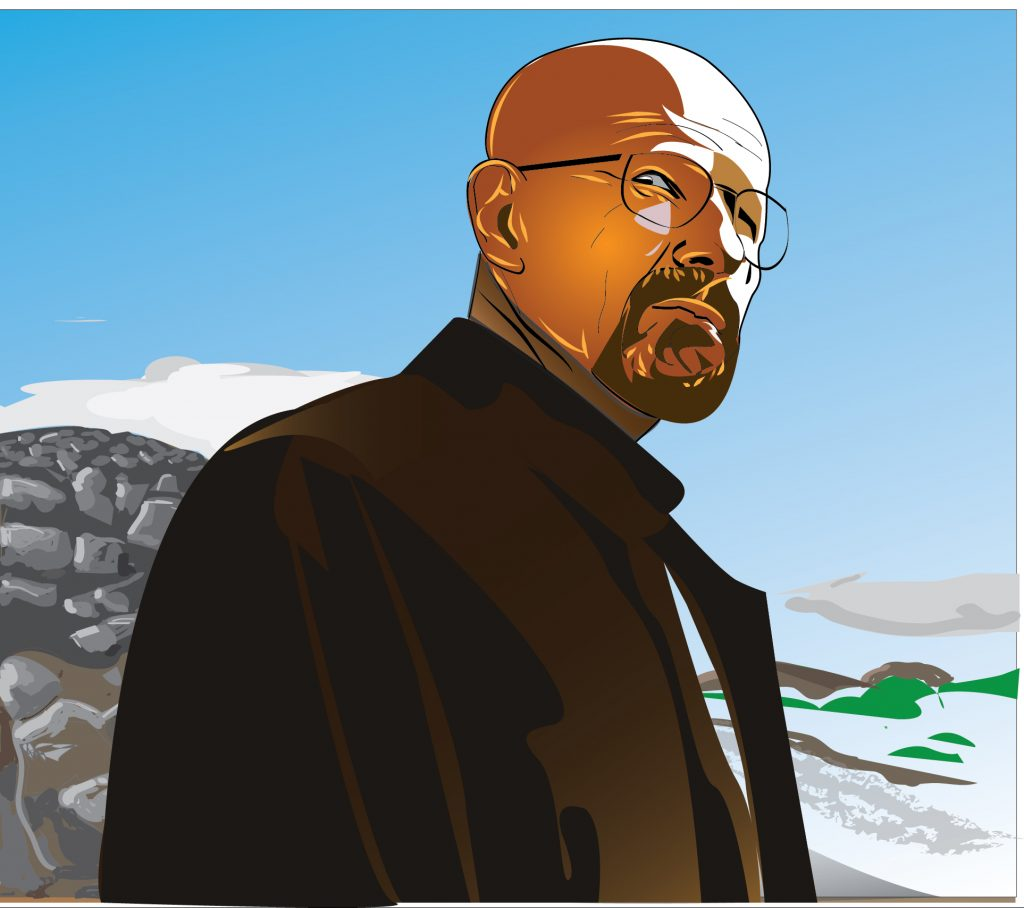 Walter White Illustration by Clarence McMillan