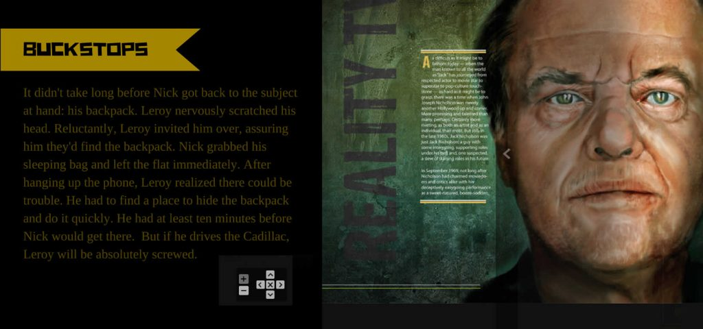 Jack Nicholson with Story Text