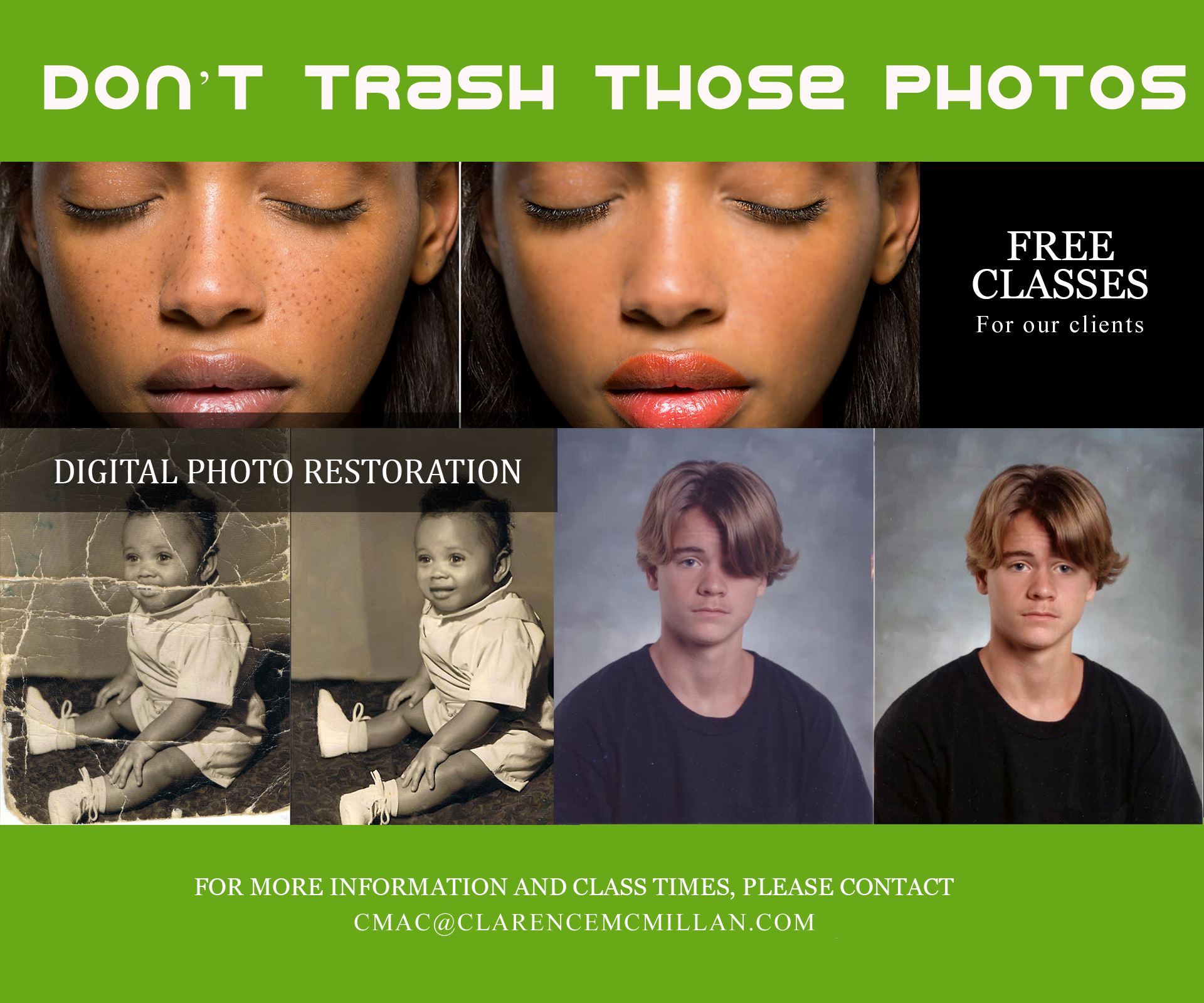 Photo Restoration and Image Retouching
