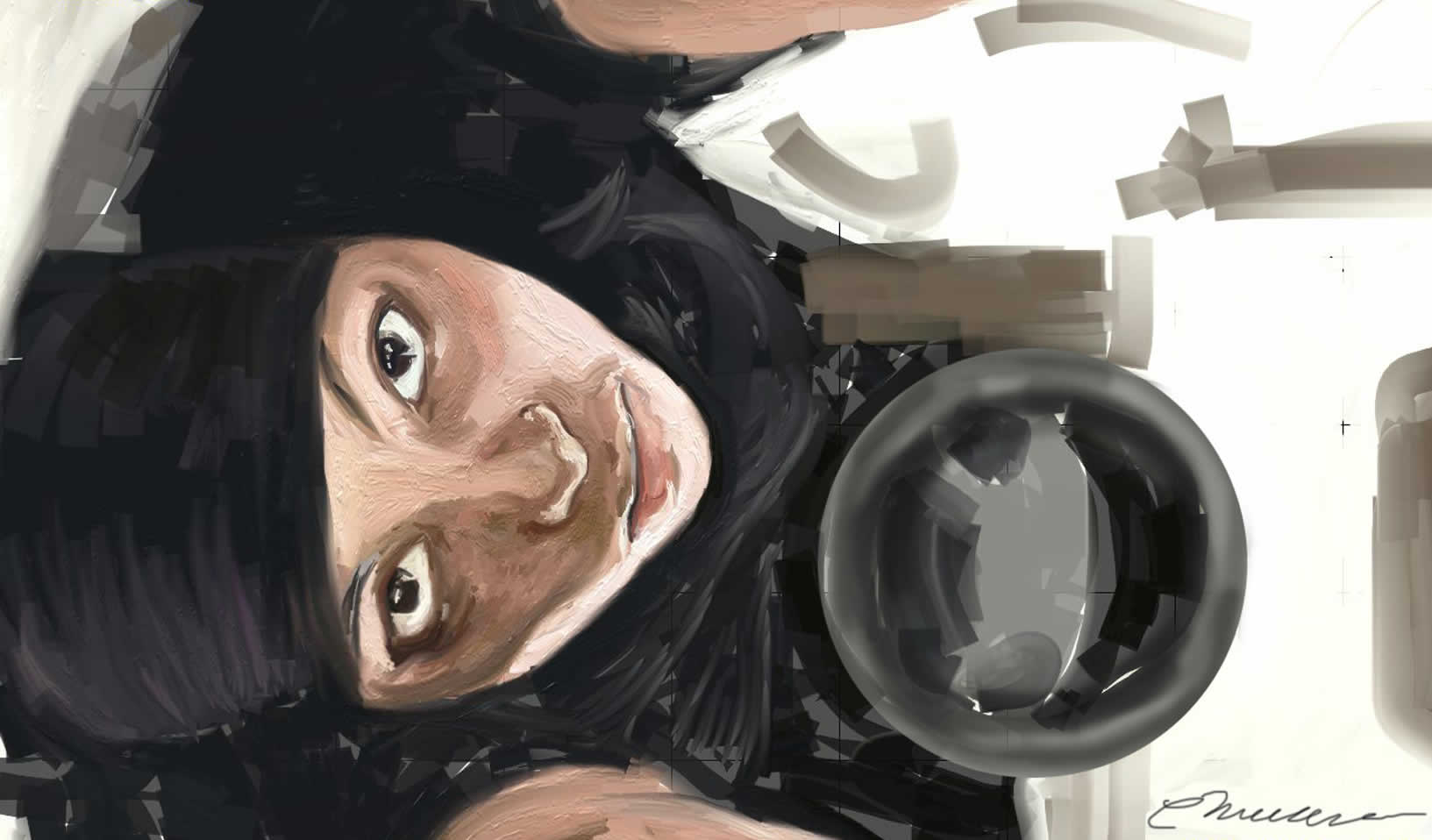 Ummi Painted with ArtRage by Clarence McMillan