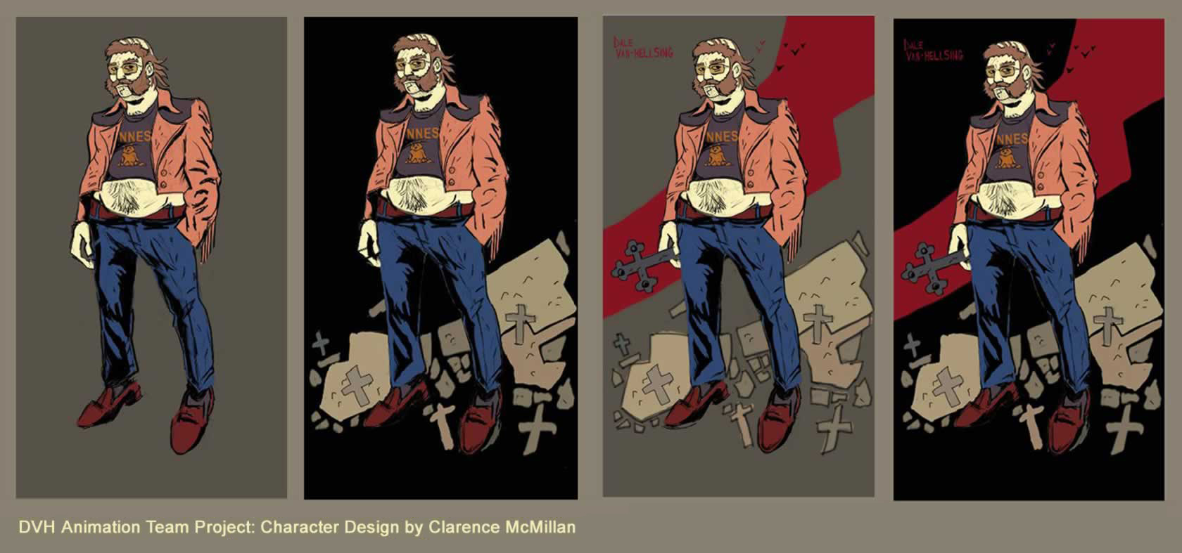 DVH Character Design by Clarence McMillan
